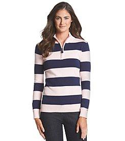 Le Tigre Stripe Zip Sweater