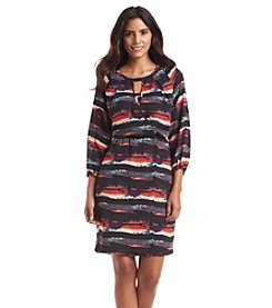 Marc New York Abstract Stripe Dress