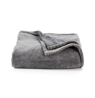 LivingQuarters Grey Micro Cozy Throw