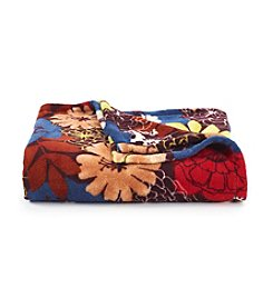 LivingQuarters Fall Floral Micro Cozy Throw