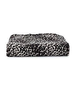 John Bartlett Pet Grey Leopard Micro Cozy Throw