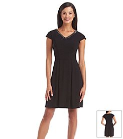 Marc New York Beaded Fit And Flare Dress
