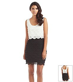 GUESS Lace Popover Dress