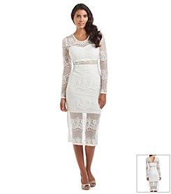 GUESS Lace Midi Dress