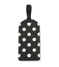 kate spade new york® Black Dot Luggage Tag