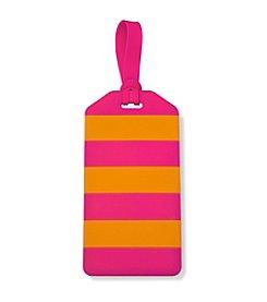 kate spade new york® Orange And Pink Stripes Luggage Tag