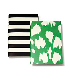 kate spade new york® Black Stripe And Ikat Notebook Set
