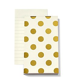 kate spade new york® Gold Dots Small Notepad