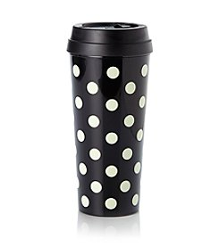 kate spade new york® La Pavillion Black And White Dots Thermal Mug