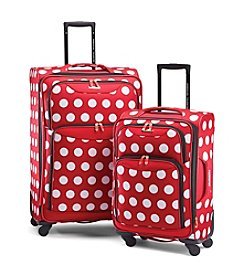 American Tourister Disney™ Minnie Polka Dot Luggage Collection + $50 Gift Card by mail
