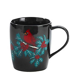 LivingQuarters Burgundy Cardinal Mug