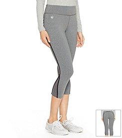 Lauren Active® Mesh Insert Cropped Leggings