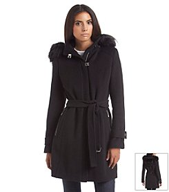Calvin Klein Zip Front Walker Coat