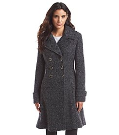 Ivanka Trump® Double-Breasted Fit And Flare Boucle Coat