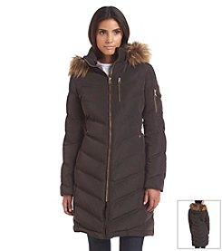 Calvin Klein Three-Quarter Down Coat With Horizontal Seaming