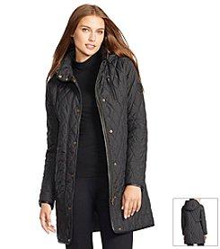 Lauren Ralph Lauren® Faux Leather Trimmed Quilted Jacket