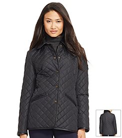 Lauren Ralph Lauren® Berber Collar Barn Quilt Coat