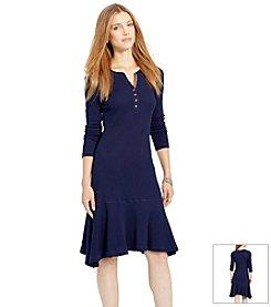 Lauren Jeans Co.® Faux-Suede Trim Henley Dress