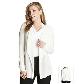Chaus Textured Open Stitch Cardigan