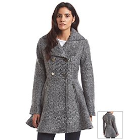 Laundry Double-Breasted Fit And Flare Coat