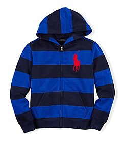 Ralph Lauren Childrenswear Boys' 8-20 Rugby Striped Full Zip Hoodie
