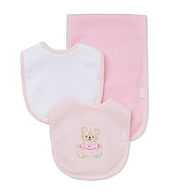 Little Me® Baby Girls' Lady Bear Bib And Burp Cloth Set