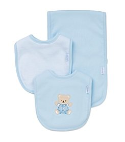 Little Me® Baby Boys Dapper Bear Bib And Burp Cloth Set