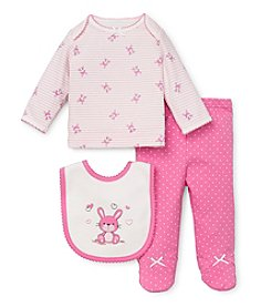 Little Me® Baby Girls' Newborn-9M Three-Piece Bunny Footie Set