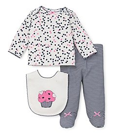 Little Me® Baby Girls' Newborn-3M Three-Piece Cupcake Lap Set