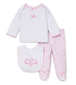 Little Me® Baby Girls' Newborn-9M Thank Heaven For Little Girls Footie Set