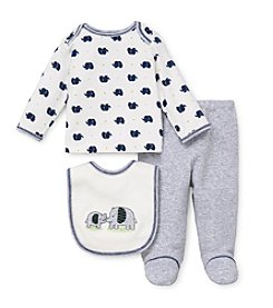 Little Me® Baby Boys Elephant Print Lap Set
