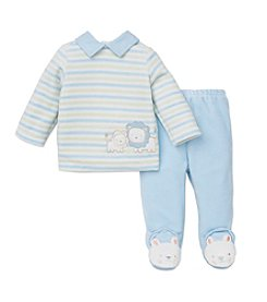Little Me® Baby Boys 3-9M Velour Striped Lion Pants Set