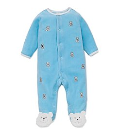 Little Me® Baby Boys 3-9M Teddybear Print Shiffli Footie