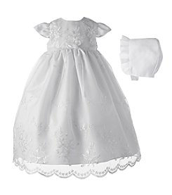 Lauren Madison® Baby Girls' Christening Dress With Bonnet