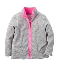 Carter's® Girls' 2T-6X Zip-Up Fleece Jacket