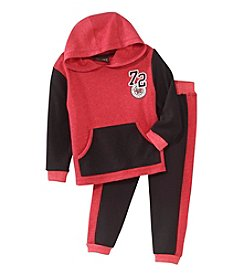 Nannette® Boys' 2T-4T 2-Piece Colorblock Pants Set