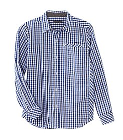 DKNY® Boys' 8-20 Long Sleeve Woven Plaid Top