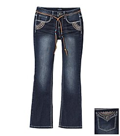 Squeeze® Girls' 7-16 Embroidered Flap Pocket Bootcut Jeans