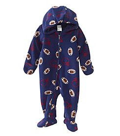 Cuddle Bear® Baby Hut Hut Hike! Football Hooded Bunting