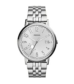 Fossil® Silvertone Vintage Muse Multifunction Watch With Stainless Steel Strap