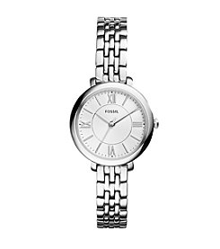 Fossil® Women's Silvertone Jacqueline Mini Watch In With Stainless Steel Strap