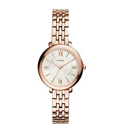 Fossil® Women's Rose Goldtone Jacqueline Mini Watch With Stainless Steel Strap
