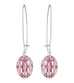 Swarovski® Silvertone Puzzle Pierced Earrings