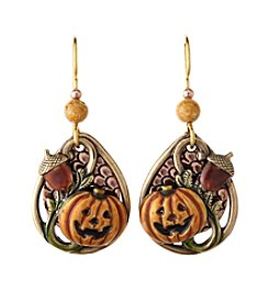 Silver Forest® Goldtone Pumpkin And Acorn Earrings