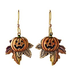 Silver Forest® Goldtone Pumpkin Earrings
