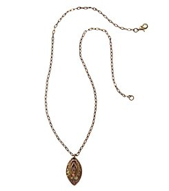 Silver Forest® Two Tone Knot On Layered Shapes Necklace