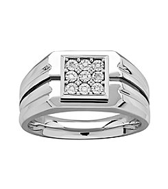 Men's Sterling Silver Diamond Accent Ring