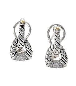 Effy® .18 Ct. t.w. Diamond Earrings In Sterling Silver