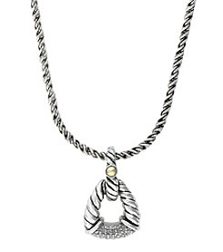 Effy® .11 Ct. t.w. Diamond Pendant In Sterling Silver