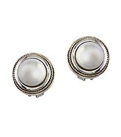 Effy® Cultured Freshwater Pearl Earrings In Sterling Silver